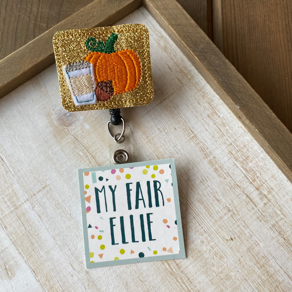 Fall Favorites // PSL // Pumpkin Badge Buddy - TOPPER ONLY!