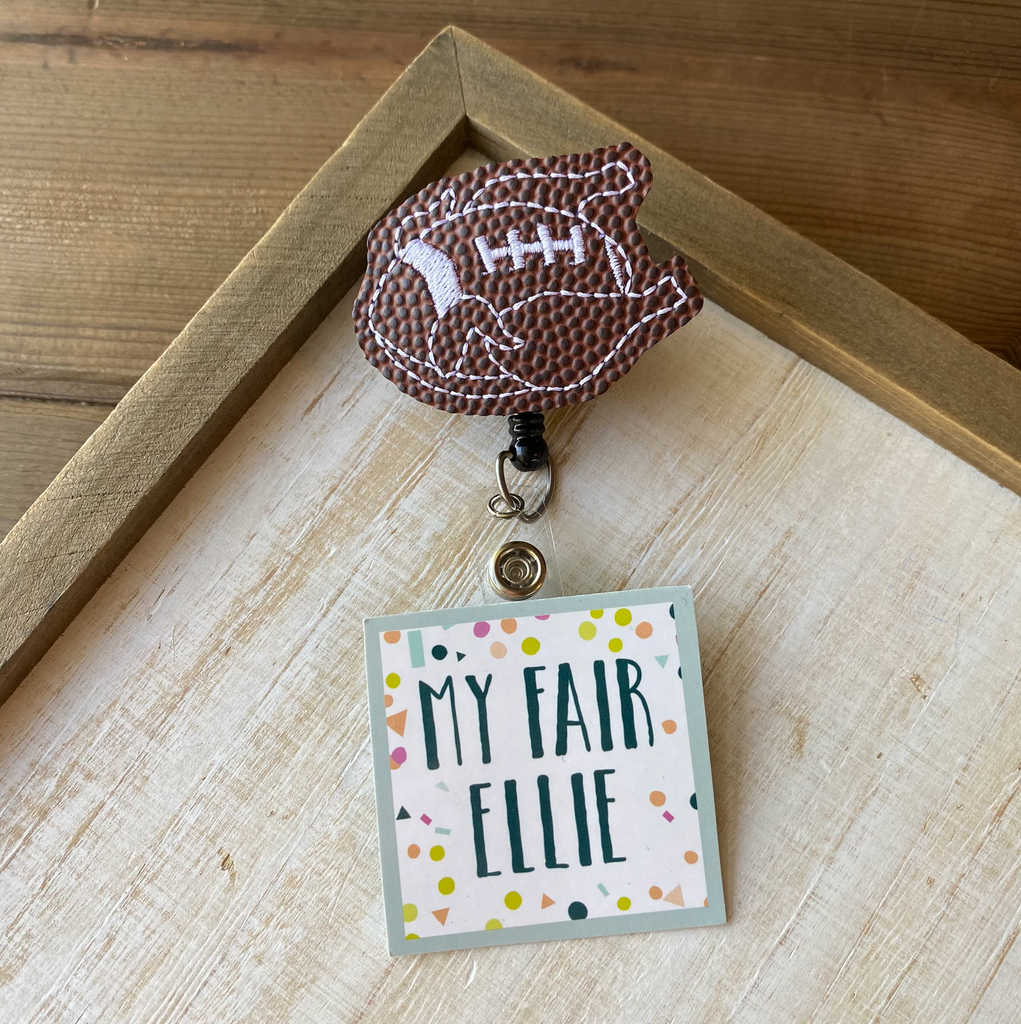 Thanksgiving Turkey Football Badge Buddy - TOPPER ONLY!