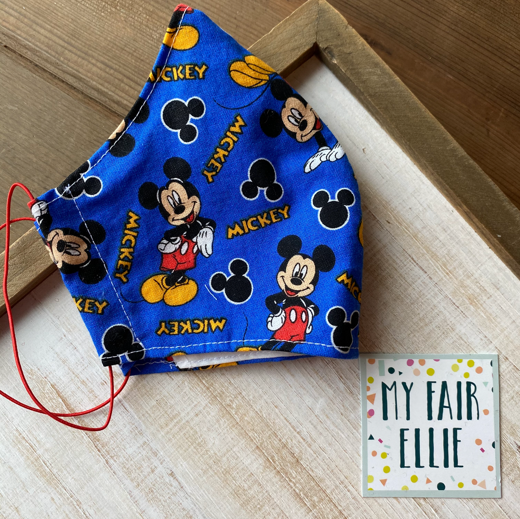 Mickey Mouse Fabric Mask // My Fair Ellie Fabric Mask