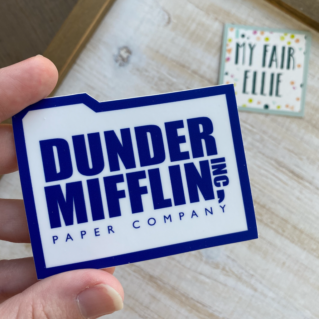 Dunder Mifflin // The Office // My Fair Ellie Ink Sticker