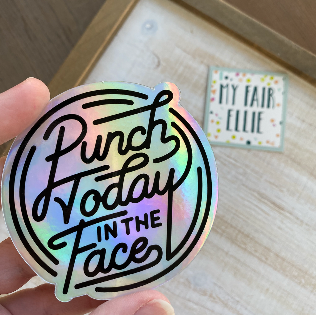 Punch Today Sticker // My Fair Ellie Ink Sticker