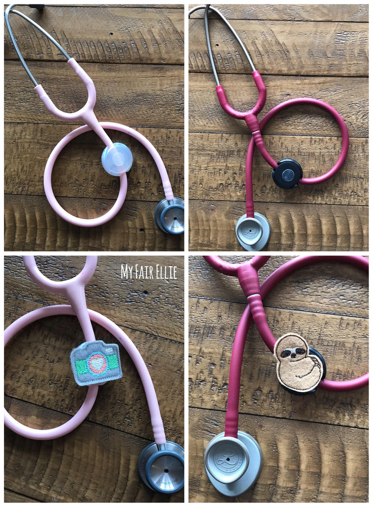 Stethoscope Base for Toppers - Badge Reel - Stethoscope ID - Fun Stethoscope Clip - Stethoscope Charm