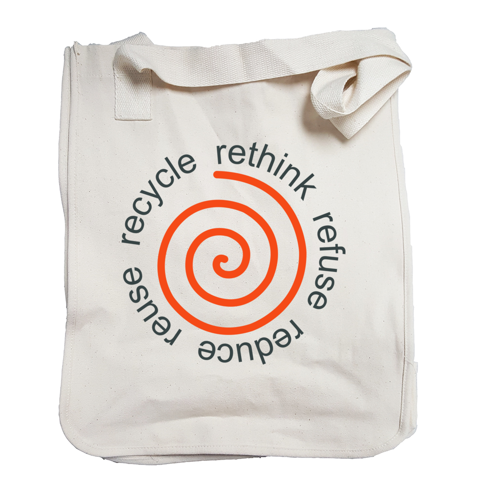 Natural Tote Bag with Recycle Image
