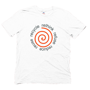 Men's White Recycle T-shirt