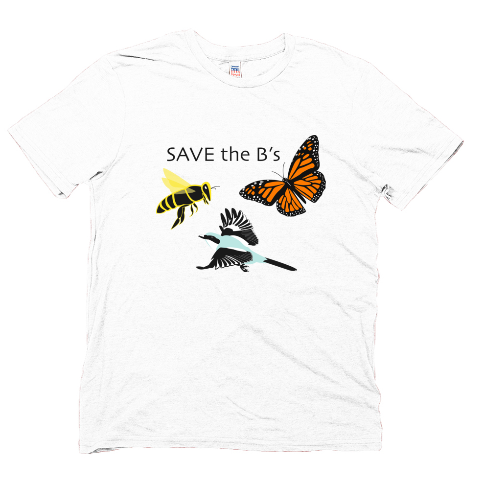 Men's White Save The B's T-shirt