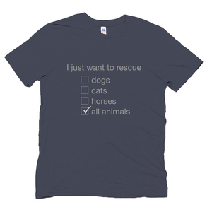 Men's Navy Save Animals T-shirt