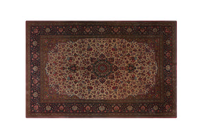 "7'7"" * 4'10"" Sarouk/Sarough Wool and Silk Handmade Persian Rug, Handmade Rug, Kourosh Rugs"
