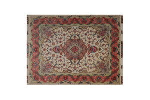 "6'11"" * 5'1"" Tabriz Wool and Silk Handmade Persian Rug, Handmade Rug, Kourosh Rugs"