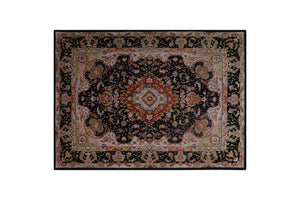 "6'8"" * 4'10"" Tabriz Wool and Silk Handmade Persian Rug, Handmade Rug, Kourosh Rugs"