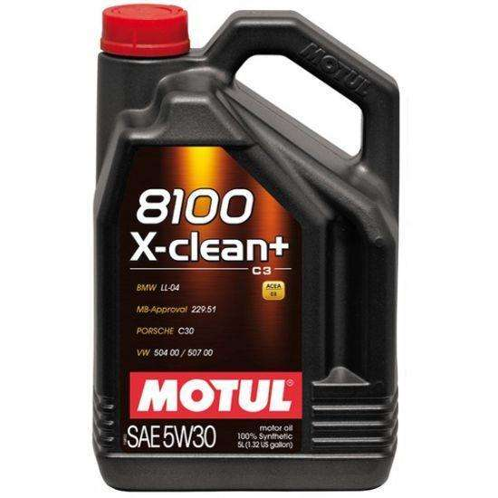 Motul 5L Synthetic Engine Oil 8100 5W30 X-CLEAN Plus