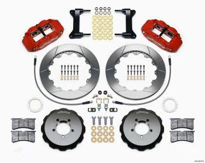 Wilwood Forged Narrow Superlite 6 Piston Big Brake Front Brake Kit (Hat) - WRX 2002-2014