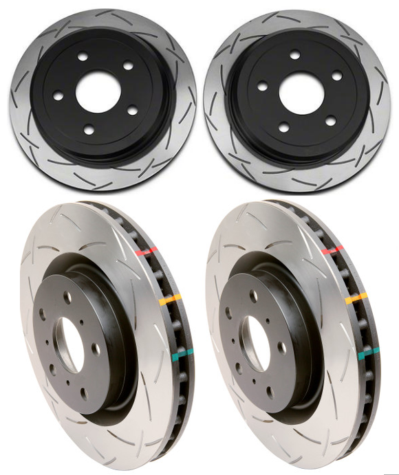 DBA 4000 Series Slotted Rotor Set (Front/Rear) - 2008-2018 STI