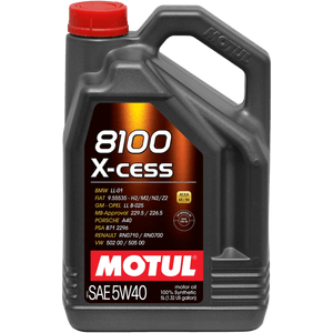 Motul 5L Synthetic Engine Oil 8100 5W40 X-CESS