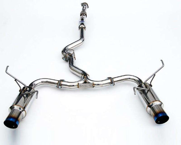 Invidia 15+ Subaru WRX/STI 4dr N1 Twin Outlet Single Layer Tip Titanium Cat-Back Exhaust