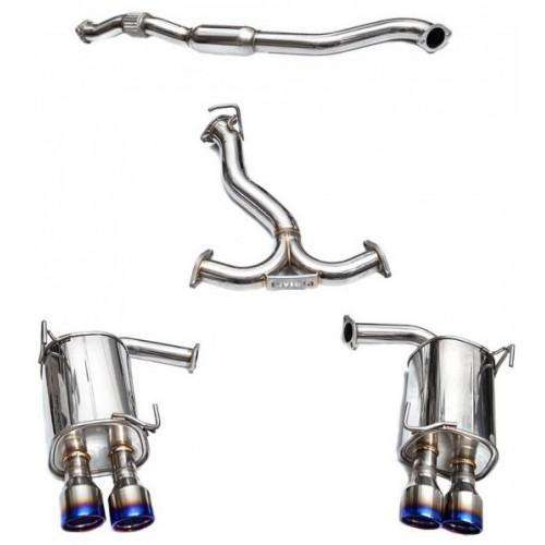 Invidia 2015-2018 Subaru WRX/STI 4Dr Q300 Twin Outlet Rolled Stainless Steel Quad Tip Cat-Back Exhaust