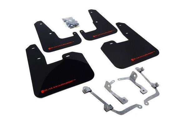Rally Armor UR Mudflaps Subaru WRX / STI 2011-2014 Hatchback - Black with Red logo