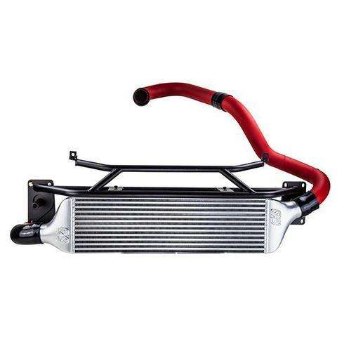Turbo XS FMIC for 15-16 Subaru WRX - Wrinkle Red Pipes