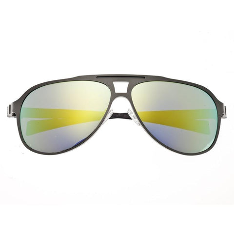 Breed Apollo Titanium and Carbon Fiber Polarized Sunglasses - Silver/Gold BSG006SR