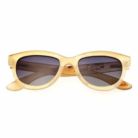 Bertha Carly Buffalo-Horn Polarized Sunglasses - Honey/Black BRSBR009C