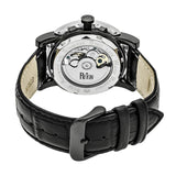 Reign Stavros Automatic Skeleton Leather-Band Watch - Silver/Charcoal REIRN3704