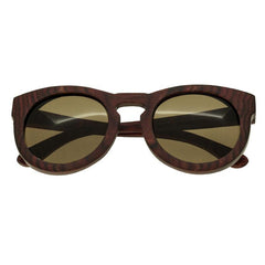 Spectrum Aikau Wood Polarized Sunglasses - Cherry/Brown