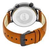 Simplify The 3300 Leather-Band Watch - Orange/Black SIM3307