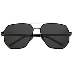 Bertha Brynn Polarized Sunglasses - Silver/Black