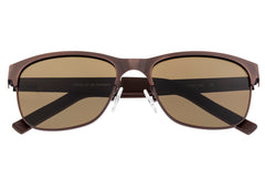 Breed Hypnos Titanium Polarized Sunglasses - Brown/Brown