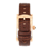 Heritor Automatic Jefferson Leather-Band Watch - Rose Gold/Black HERHR8803