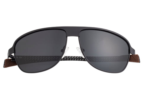 Breed Hardwell Titanium and Carbon Fiber Polarized Sunglasses - Black/Black BSG007BK