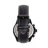 Morphic M88 Series Chronograph Leather-Band Watch w/Date - Black/Silver MPH8804