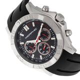 Morphic M75 Series Tachymeter Strap Watch w/Day/Date - Silver/Black MPH7501