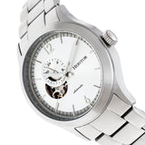 Heritor Automatic Antoine Semi-Skeleton Bracelet Watch - Silver HERHR8501