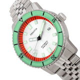 Heritor Automatic Edgard Bracelet Diver's Watch w/Date - Mint/Silver HERHR9101