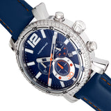 Morphic M89 Series Chronograph Leather-Band Watch w/Date - Blue MPH8903