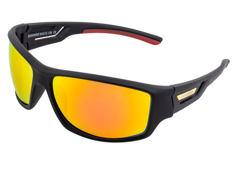 Breed Aquarius Polarized Sunglasses - Black/Red-Yellow BSG060RD