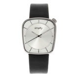 Simplify The 6800 Leather-Band Watch - Silver SIM6801