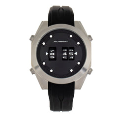 Morphic M76 Series Drum-Roll Strap Watch - Silver/Black