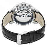 Heritor Automatic Hannibal Semi-Skeleton Leather-Band Watch - Silver HERHR4101