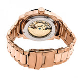 Heritor Automatic Helmsley Semi-Skeleton Bracelet Watch - Rose Gold/Black HERHR5004