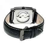 Heritor Automatic Frederick Leather-Band Watch - Black HERHR6106
