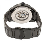 Heritor Automatic Crew Semi-Skeleton Bracelet Watch - Black HERHR7003