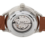 Heritor Automatic Harding Semi-Skeleton Leather-Band Watch - Silver/Green HERHR9003