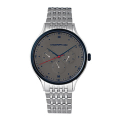 Morphic M65 Series Bracelet Watch w/Day/Date - Silver/Grey