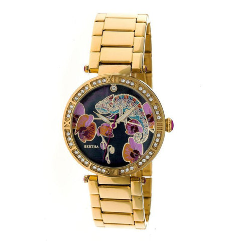 Bertha Camilla Mother-Of-Pearl Bracelet Watch - Gold BTHBR6202