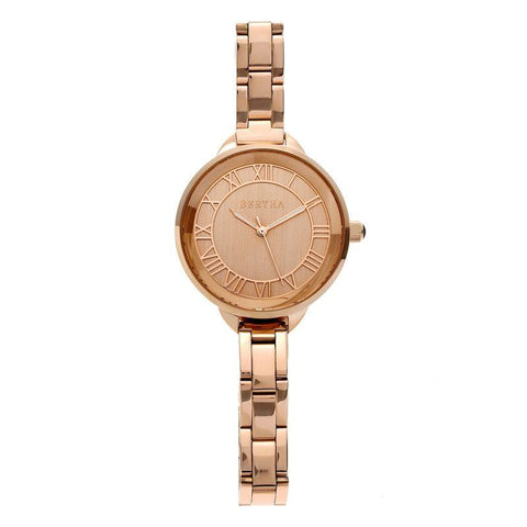 Bertha Madison Sunray Dial Bracelet Watch - Rose Gold BTHBR6703
