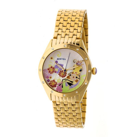 Bertha Ericka MOP Bracelet Watch - Gold BTHBR7202