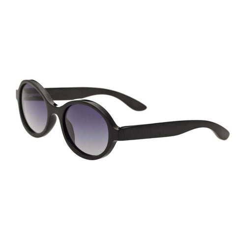 Bertha Laurel Buffalo-Horn Polarized Sunglasses - Black/Black BRSBR006B