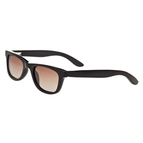 Bertha Zoe Buffalo-Horn Polarized Sunglasses - Black/Black BRSBR008B