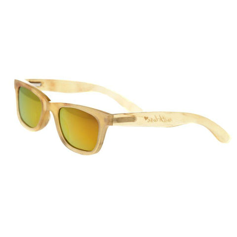 Bertha Zoe Buffalo-Horn Polarized Sunglasses - Honey/Gold BRSBR008C